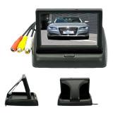 Review 4 3 Inci Lcd Warna Tft Lipat Spion Mobil Terbalik For Kamera Keamanan Memantau Dvd Video Player Tiongkok