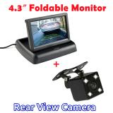Harga 4 3 Inci Lcd Tft Lipat Otomatis Sistem Parkir Hd Kaca Monitor Dengan 170 Derajat 4 Malam Led Vision Kamera Belakang Mobil New
