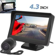 4,3 Inci LCD TFT 480x272 Tampilan Belakang Mobil Monitor + Waterproof 420 TV Kamera Parkir Cadangan Jalur CCD -Internasional