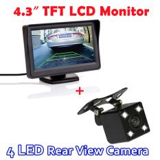 Jual 4 3 Inci Lcd Tft Sistem Parkir Otomatis Hd Kaca Monitor With 170 Derajat 4 Malam Led Vision Kamera Belakang Mobil Tiongkok