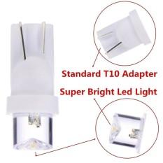 4 BIJI Lampu Led Motor Mobil T10 Speedo meter dashboard Bening lensa concave - Putih