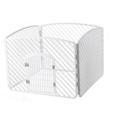 4 Interlocking Panel PET Pagar Playpen (Putih)-Intl