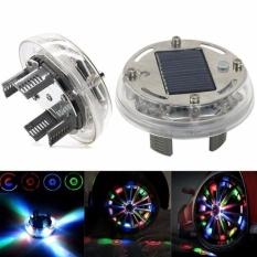 4 Mode 12 LED Mobil Auto Solar Energi Flash Roda Ban Lampu Lampu Dekorasi 1 BUAH-Internasional