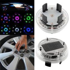 4 Mode 12 Mobil Tenaga Surya LED Flash Mode Hemat Dekorasi Lampu Roda Baru