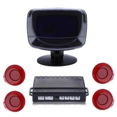4 Parking Sensor Auto Reversing Detector dengan LCD dan Step-up Alarm Monitor Sistem-Intl