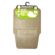 4 pcs Cream Solid Karpet Karet Mobil Tipis Avanza Xenia Calya Sigra Brio Mobilio Agya Rush Jazz Sienta Terios Innova Datsun Dll