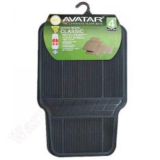 4 pcs Hitam Solid Karpet Karet Mobil Tipis Avanza Xenia Calya Sigra Brio Mobilio Agya Rush Jazz Sienta Terios Innova Datsun Dll