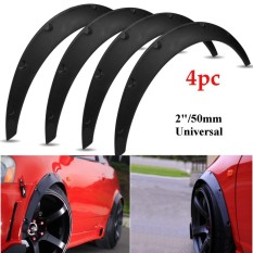 4 Pcs Universal 4 Pcs Pp 2 /50mm Fender Flares Jdm Over Wide Body Lengkungan Roda- Intl By Autoleader.
