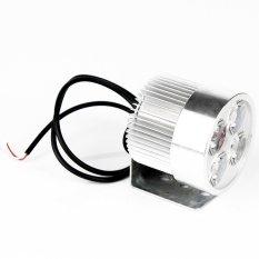 4 Putih LED Sorot Motor Mobil Sepeda Motor Lampu Spot Kabut Mengemudi Lampu Headlight