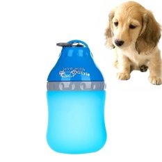 400 Ml Petelur Portabel Outdoor Air Minum Fountain Anjing PET Air Botol With Hook, Ukuran: M, 15*8.0 Cm, Pengiriman Warna Acak-Intl