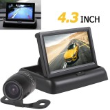 Model 4 3 Inch 2 Channel Input Car Rear View Monitor Waterproof 420 Tvl 18Mm Lens Reverse Kamera Parkir Terbaru