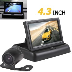 Promo 4 3 Inch 2 Channel Input Car Rear View Monitor Waterproof 420 Tvl 18Mm Lens Reverse Kamera Parkir
