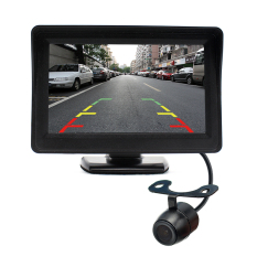 Toko 4 3 Inch Mobil Kaca Spion Monitor Rear View Camera Ccd Video Auto Parking Assistance Led Night Vision Membalikkan Mobil Styling Termurah