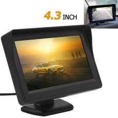4.3 Inch TFT LCD Panel Digital Pandangan Monitor Belakang Mobil Dukungan 2-Channel Video Input