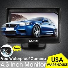 "4.3 ""Cermin Monitor LCD TFT Mobil + 170o HD Reverse Rear View Cadangan Kamera Kit-Intl"