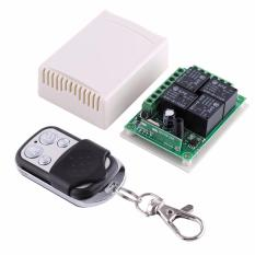 Review Terbaik 433 Mhz Dc12V 4 Ch Channel Wireless Rf 4 Relay Remote Control Switch Receiver