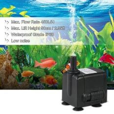 450L/H 6 W Submersible Pompa Air untuk Aquarium Meja Air Mancur Kolam Taman Air dan Sistem Hidroponik dengan 2 Nozel AC220-240V-Intl
