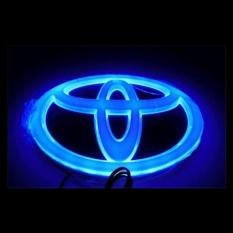 4D LED Mobil Decal Tail Logo Lencana Lampu Emblem Sticker ForTOYOTA (biru) Corolla, New Crown, New Vios, Wish, 2012 Camry- INTL