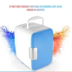 4L Mini Mobil Kulkas Freezer Cooler Penggunaan Hangat 12 V Portable Icebox Travel Kulkas untuk Berkemah Mengemudi Biru-Intl