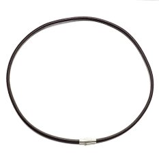 Harga 4 Mm Stainless Steel Magnetic Gesper Coklat Chainnecklace Kulit Asli Untuk Pria Dan Wanita 45 Cm L Yang Murah Dan Bagus