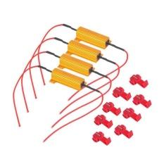 Beli 4 Pcs 50 W 6 Ohm Mobil Led Drl Fog Light Steering Sinyal Beban Resistor Tetap Led Bohlam Internasional Lengkap