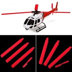 4 Pcs Merah Baling-Baling Utama Tail Blade Set untuk WLtoys V931 XK K123 RC Helicopter Spare Parts