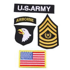 Harga Outdoor 101 Airborne U S Army 4Pcs Set Patch American Semangat Bersulam Termurah