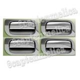 Review Terbaik 4Pcs Toyota Daihatsu Avanza Xenia Chrome Paket Outer Cover Handle Set Pelindung Mangkok Pegangan Tarik Tarikan Pintu Door Crome Avanza Xenia