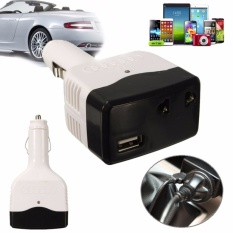 4 Pcs Universal Charger Mobil Inverter Adaptor DC-AC Power Converterw/USB Port Outlet-Internasional