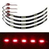 Harga 4X30 Cm 5050 15 Led Mobil Truk Fleksibel Tahan Air Lampu Strip Merah Intl Fullset Murah