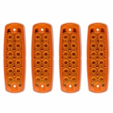 Beli 4X Yellow 12 Led Truck Trailer Side Marker Tail Light Tail Indicator Lamp Ma1251 Intl Seken