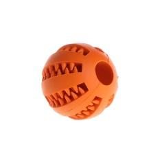 5 Cm Hewan Peliharaan Anjing Mengunyah Mainan Perlakukan Perlakuan Ball Tahan Gigitan Membersihkan Gigi Karet Alam