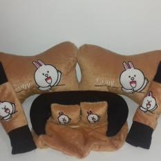 5 in 1 Bantal Mobil Boneka Cony Sarung Seat Belt Tempat Tissue Kepala Leher 500944d772