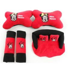 Jual 5 In 1 Bantal Mobil Sapi Boneka Minnie Mickey Mouse Sarung Seat Belt Tempat Tissue Kepala Leher Murah Di Jawa Barat