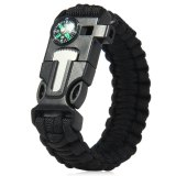 Spesifikasi 5 In 1 Outdoor Survival Gear Escape Gelang Tali Kepang Whistle Compass Scraper Not Specified