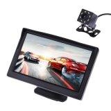 Spek 5 Inch 480X272 Pixel Tft Lcd Warna Pandangan Monitor Belakang Mobil Dengan Kamera