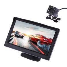 Harga 5 Inch 480X272 Pixel Tft Lcd Warna Pandangan Monitor Belakang Mobil Dengan Kamera Vakind