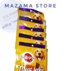 5 pack Pedigree Dog Treats Meat Jerky Roasted Lamb 80 gr / Pedigree / Camilan Anjing / Makanan Kering Untuk Anjing / Dog Food / Persediaan Hewan Peliharaan / Anjing / Meat Jerky Dog Food