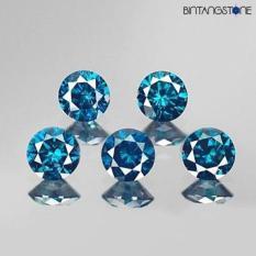 5 Pcs Blue Diamond Vs-Si Natural 1.2 Mm Africa Mess Eropa Berlian Biru Asli By Bintang Stone.