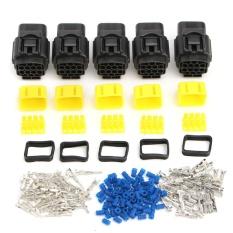 5 Set Dari 2-Pin/kawat Listrik Cara Tahan Terhadap Udara Konektor Kabel Snap-In Plug Mobil- Intl By Elec Mall.