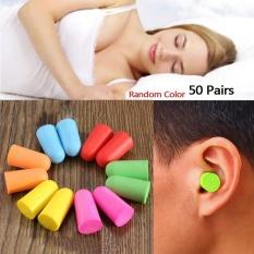 50 Pasang Soft Classic Foam Ear Plugs untuk Sleep Noise Reduction Foam Earplug untuk Anti-
