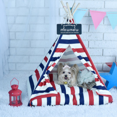 50X50X60 Cm Kennel Kandang Hewan Peliharaan Pet Tenda Anjing Tempat Tidur Anjing (merah)-