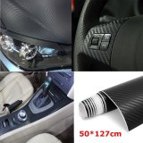 Diskon 50 127 Cm 3D Carbon Fiber Vinyl Mobil Wrap Sheet Roll Film Sticker Decal Black Intl Akhir Tahun