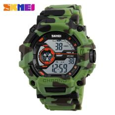 Kualitas 50 M Tahan Air Pria Olahraga Watches Skmei Led Militer Watch Fashion Luar Ruangan Berenang Jam Men Digital Watch 6 Warna Intl Skmei