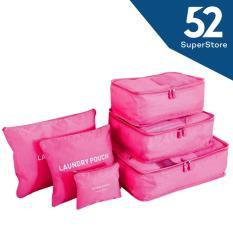52 Home Tas Travel Bag Organizer / Tas Koper Simple 6 IN 1 1701-10 ( Random Colour )