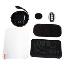 5.5 Inch Mobil HUD Kepala Up Display KM/H & Mph Mempercepat Dual Antarmuka OBD Kaca Depan Proyek Sistem dengan Remote Control dan Fungsi Tampilan Waktu-Intl