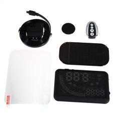 5.5 Inch Mobil HUD Kepala Up Display KM/H & MPH Mempercepat WarningDual OBD Antarmuka Kaca Depan Proyek Sistem dengan Remote Control-Intl