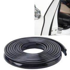 Harga 5 6 M Mobil Dekoratif Strip Karet Chrome Dekorasi Strip Pintu Segel Jendela Seal Hitam Asli