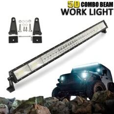 5D 42 ''Inci 1400 W LED Work Ringan Bar Tempat Banjir Kombo Lampu Offroad Mobil Truk-Internasional