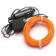 Daftar Harga 5 M Fleksibel Lampu Neon Glow Strip Rope El Wire 12 V Inverter Untuk Mobil Festival Dll Orange Intl Oem